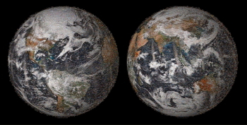 NASAが自撮り写真で地球のモザイク画制作