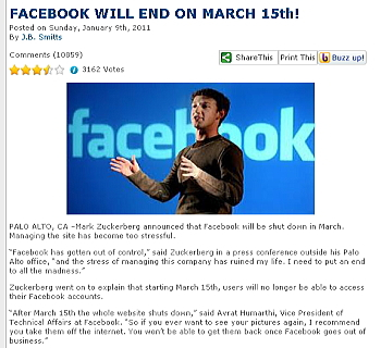 Facebook 3月15日で終了しません